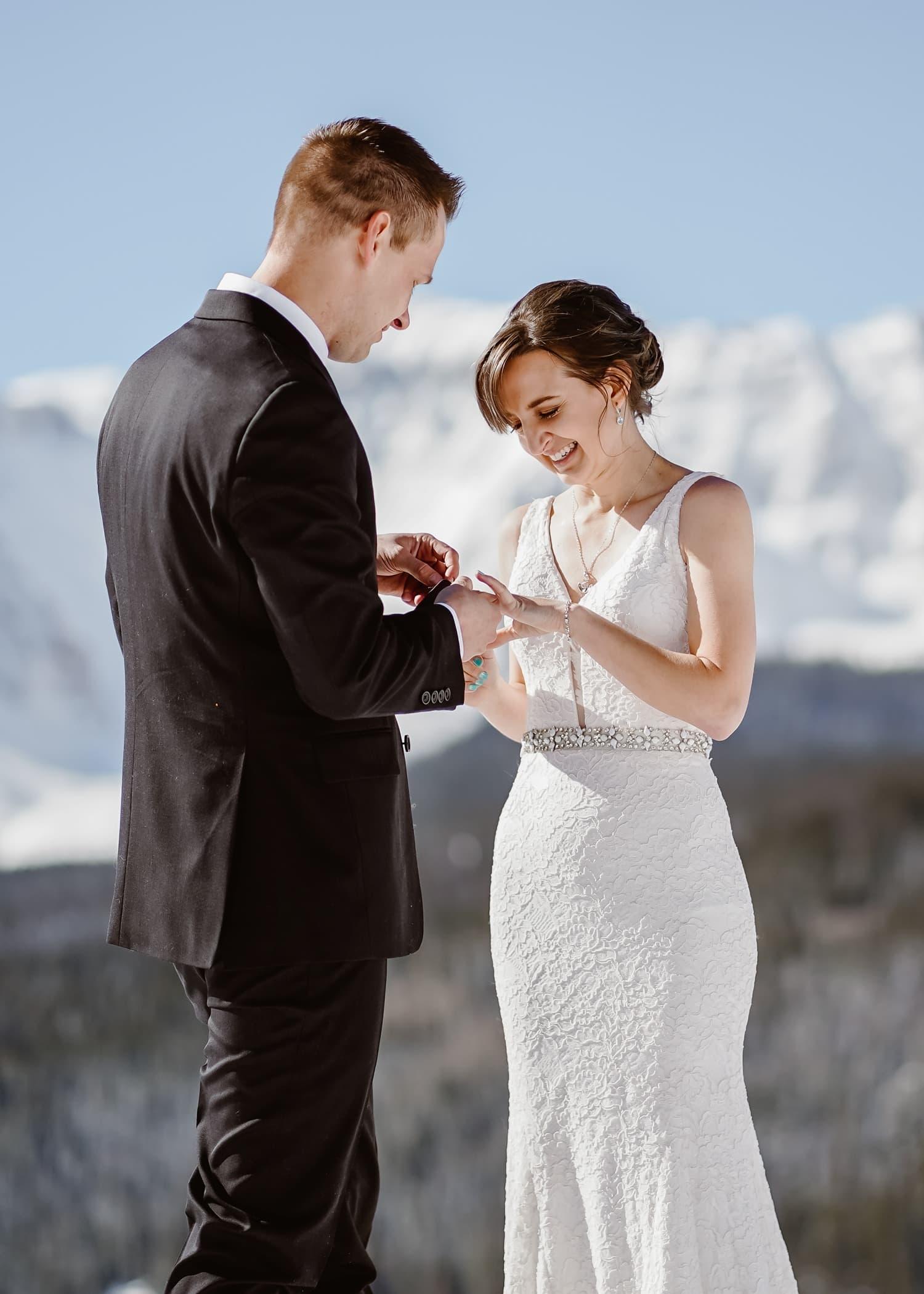 Ring Exchange at Telluride Elopement