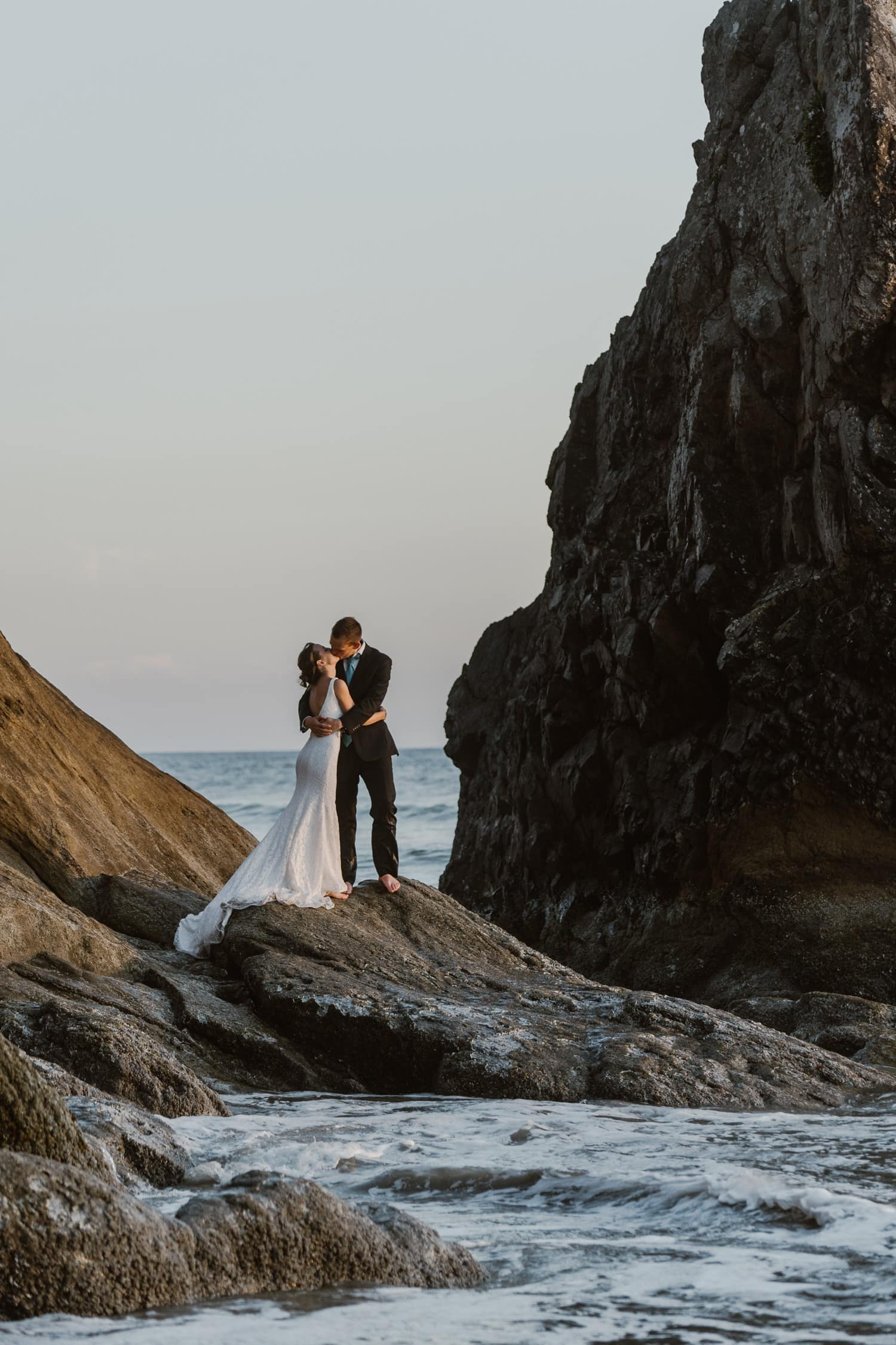 Cannon Beach and Hug Point Sunset Elopement