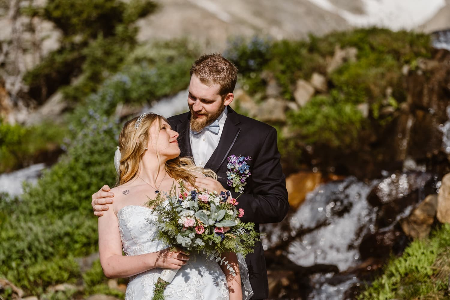 Waterfall Colorado Elopement