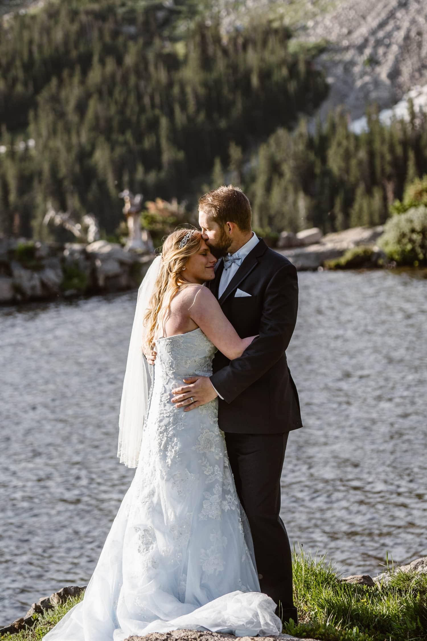 Bride and Groom at Colorado Adventure Elopement