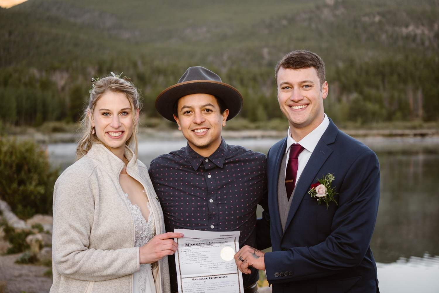 ily Lake Rocky Mountain National Park Elopement