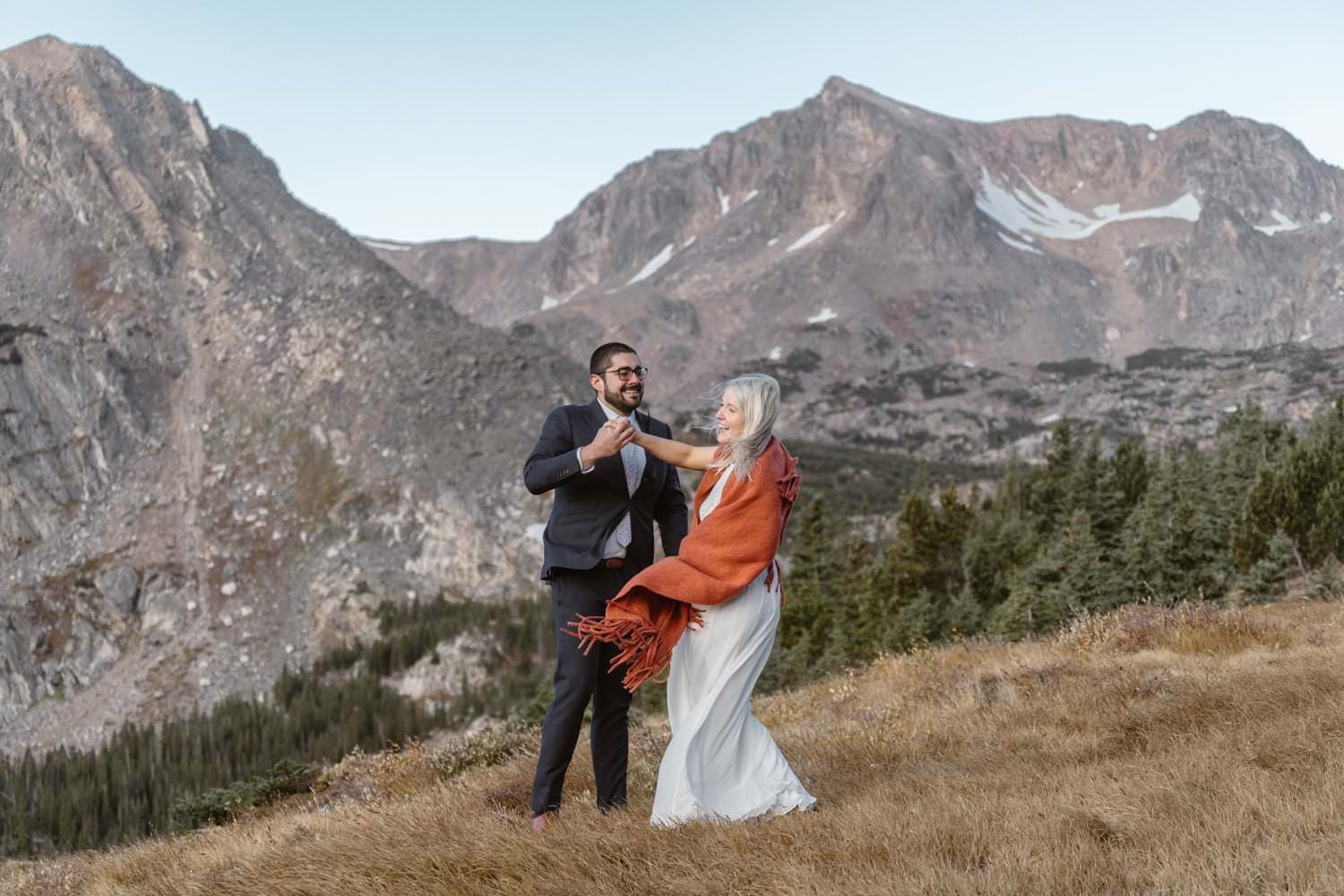 First Dance at Self Solemnizing Elopement near Boulder, Colorado