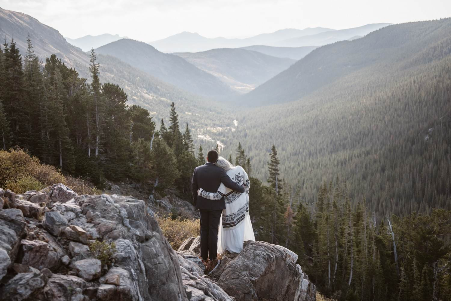 Bride and Groom at Self Solemnizing Elopement near Boulder, Colorado
