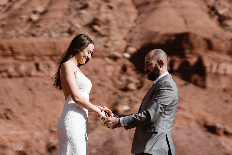 Vow Ceremony Moab Elopement
