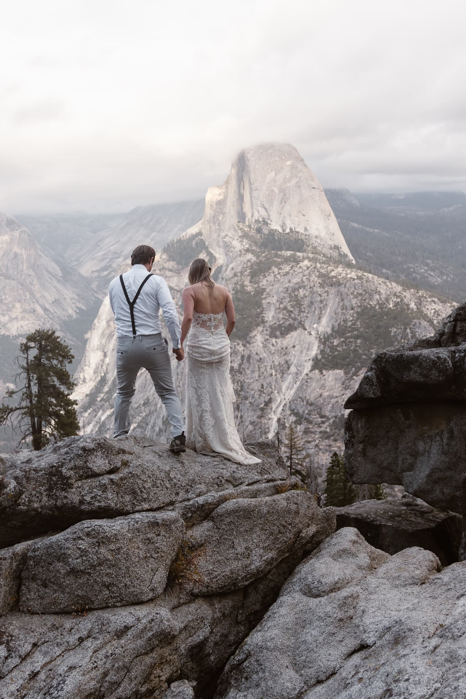 Glacier Point and Taft Point Elopement in Yosemite