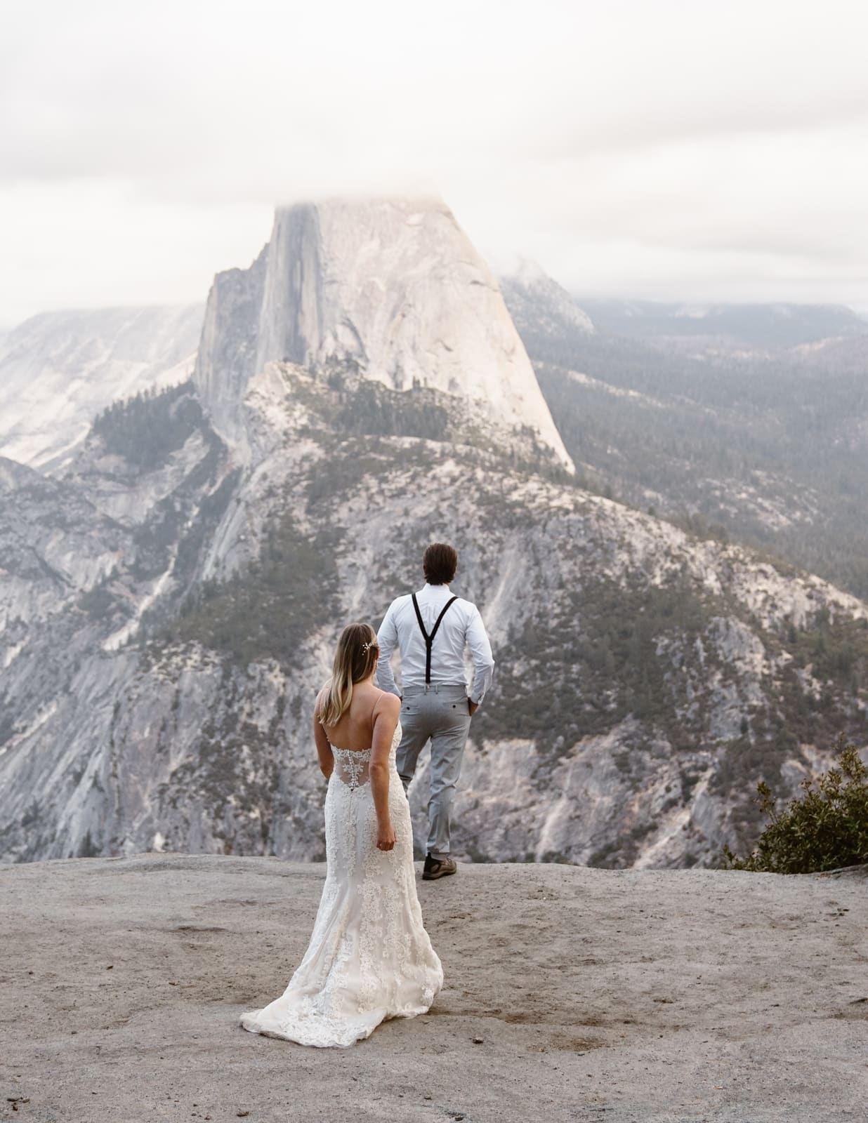 First Look at Glacier Point Yosemite Elopement
