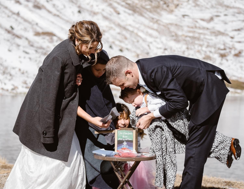 Unity Ceremony at Colorado Mountain Elopement