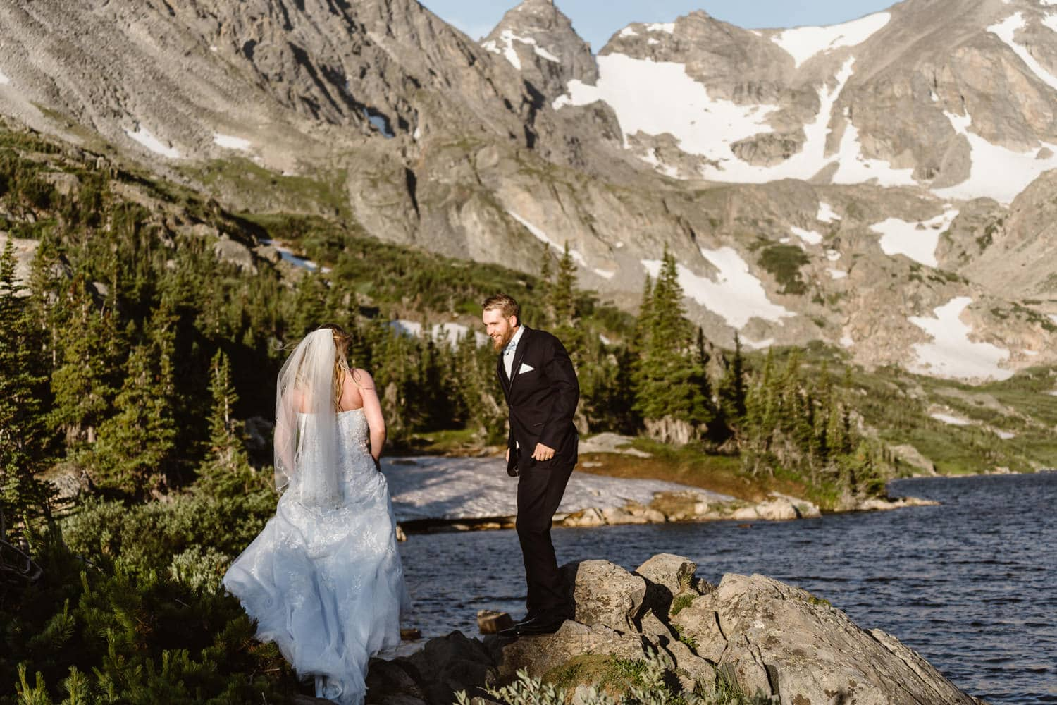 First Look Colorado Mountain Elopement