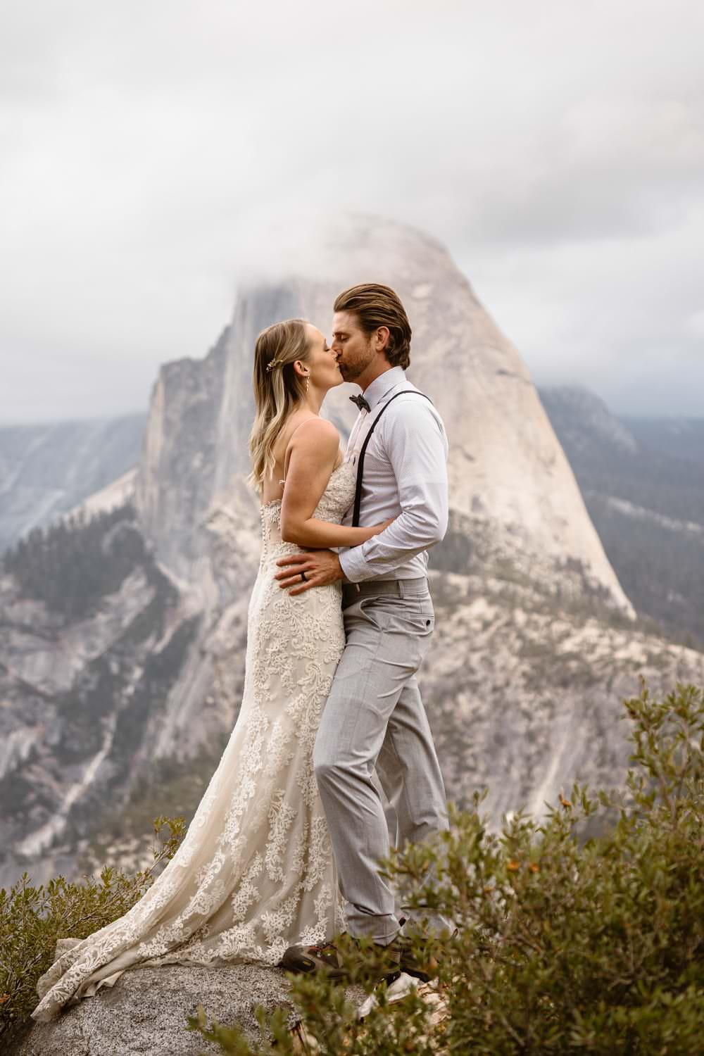 Elopement Definition Yosemite Taft Point Kissing
