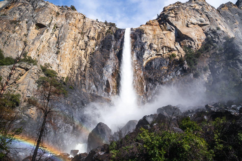 Bridal Veil Falls Yosemite Elopement