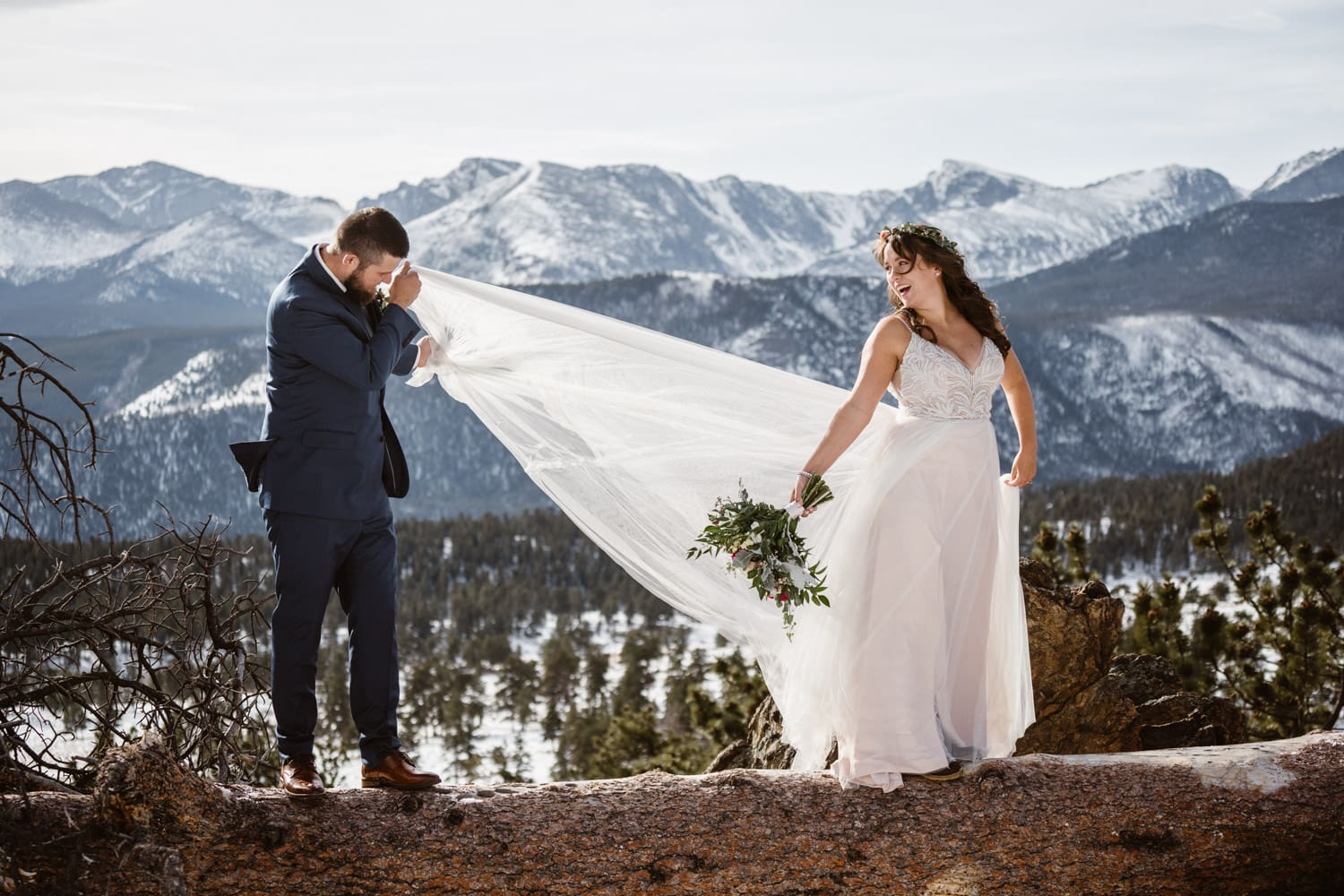 3m Curve Elopement Bride and Groom