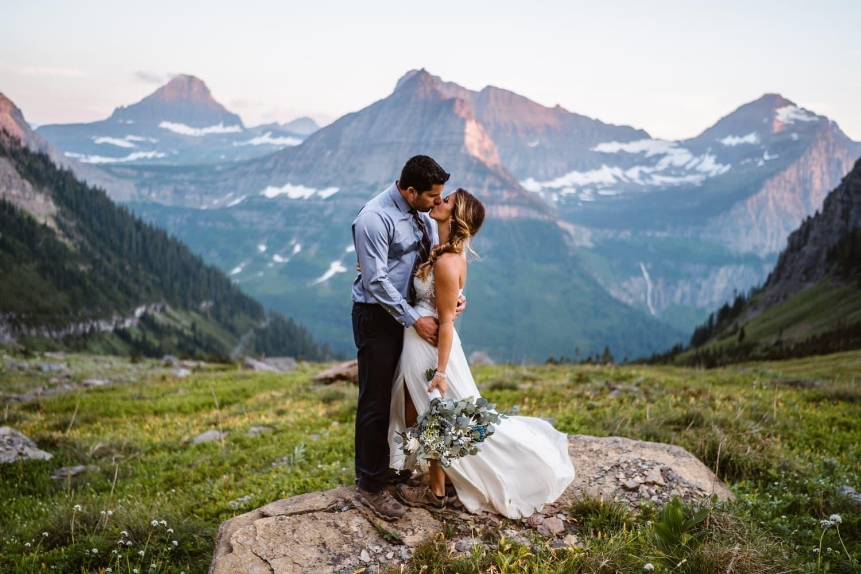 Glacier National Park Elopement Guide & Packages Bride and Groom