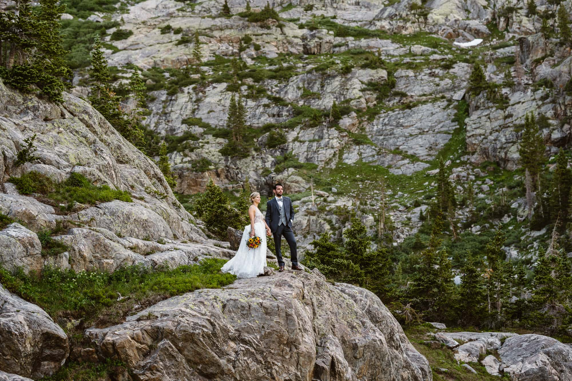 Bride and Groom Vail Colorado Elopement