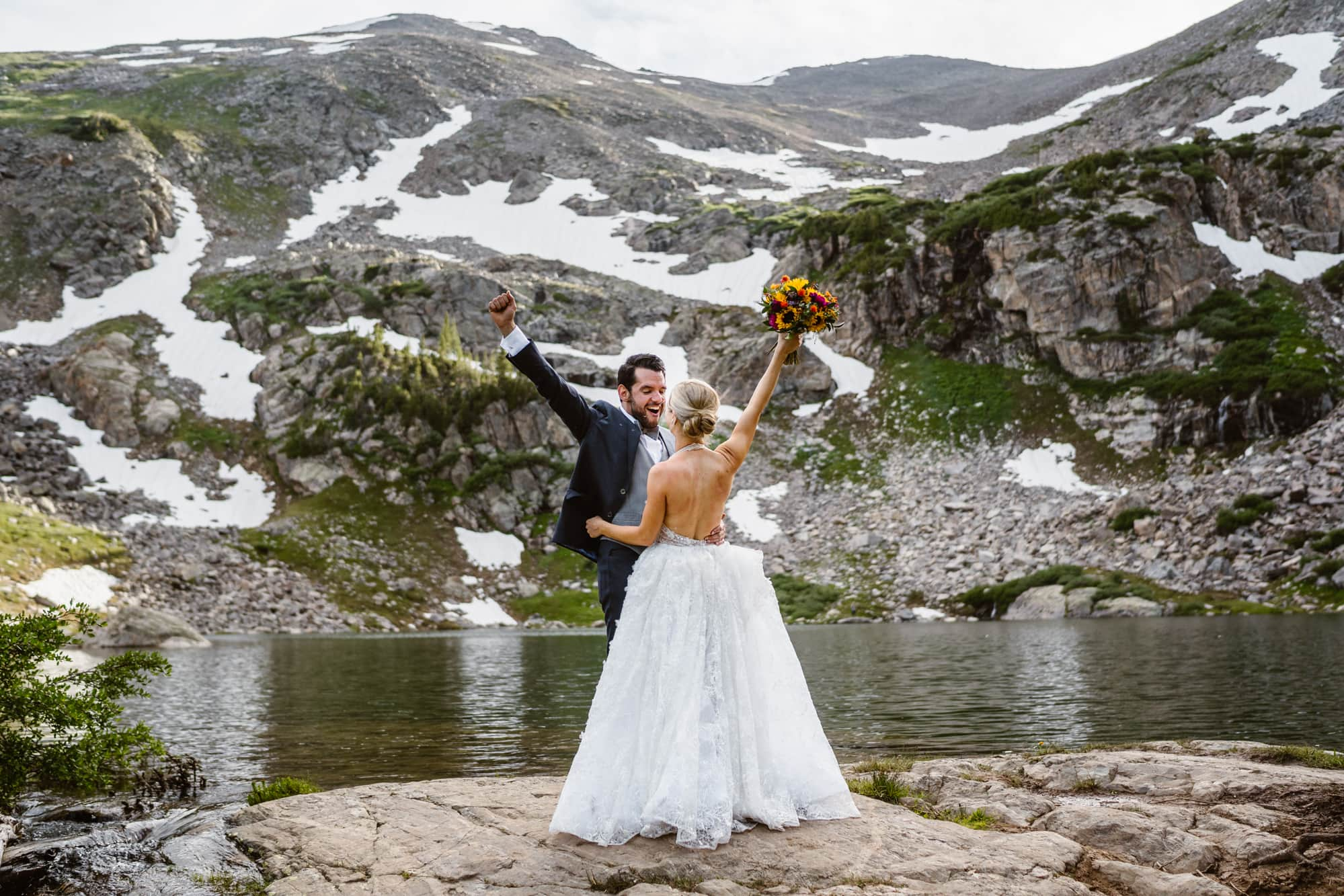 Bride and Groom First Look Vail Colorado Elopement